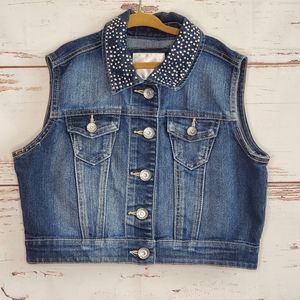 Embellished Denim Vest Justice 12